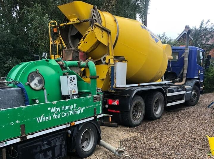 concrete mixer truck from tga concrete pumping